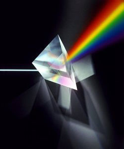 Prism defracting the-visible-spectrum